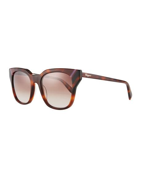Colorblock Square Sunglasses