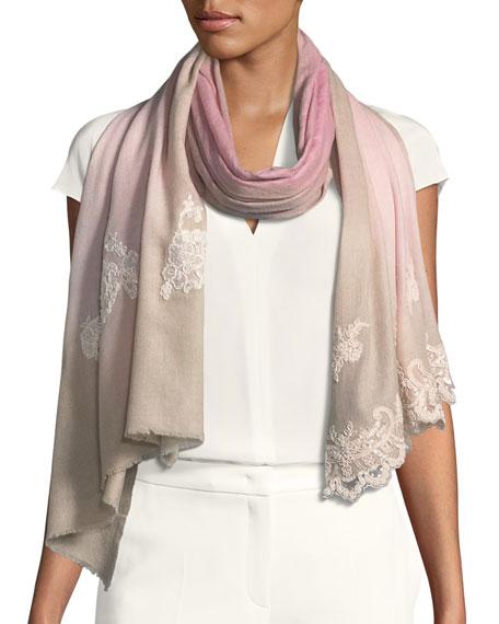 Bindya Wool-Silk Lace Scarf