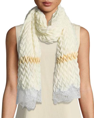 Pure Effection Wool-Silk Stole