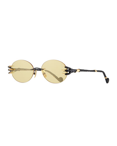The Claw & The Nest Rimless Oval Sunglasses