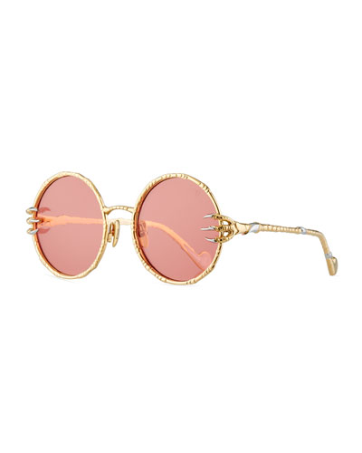 The Claw & The Moon Round Sunglasses