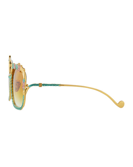 The Garden Square Gradient Sunglasses