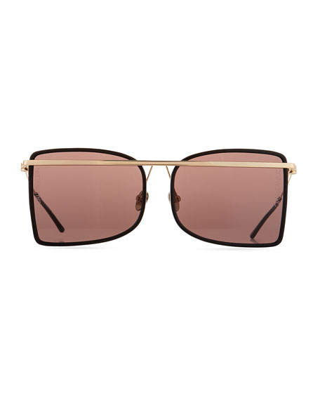 Acetate & Metal Aviator-Style Sunglasses