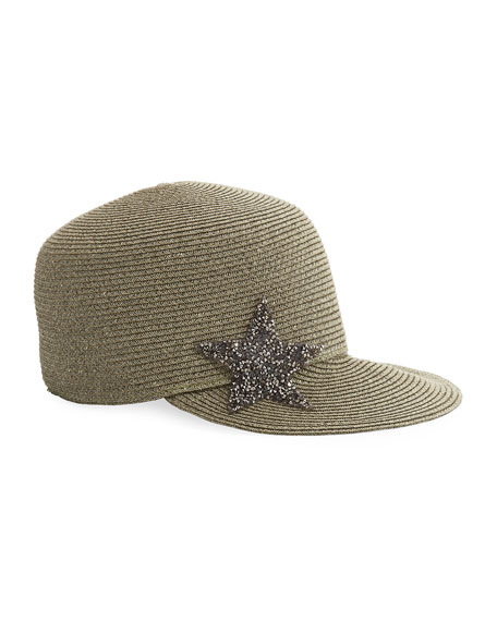Marzi STAR EMBELLISHED WOVEN CAP