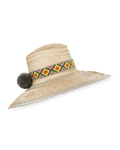 Guajiro Fringed Mawisa Sun Hat with Band