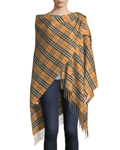 Vintage Check Collette Cape