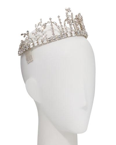 The Meadows Swarovski® Baguette Crown/Tiara