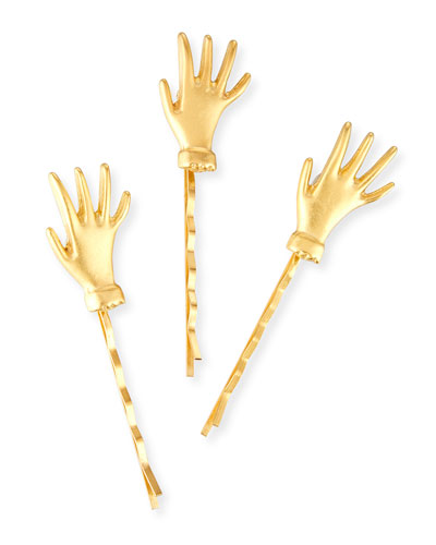 Hello Hands Bobby Pins, Set of 3
