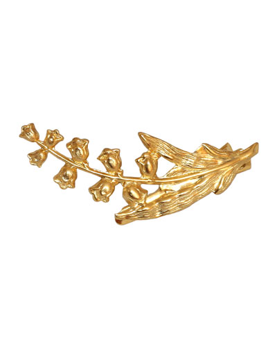 Lily of the Valley 14K Gold Plated Beak Hair Clip