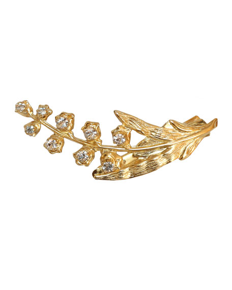 Lily of the Valley 14K Gold Plated Beak Clip w/ Swarovski® Crystals