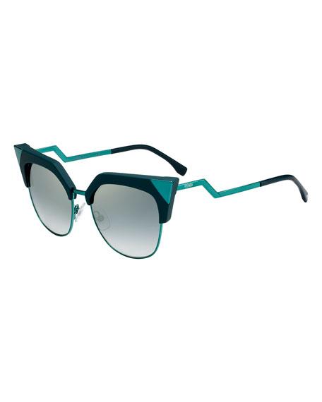 626c35f5b9 Fendi Iridia Mirrored Cat-Eye Sunglasses
