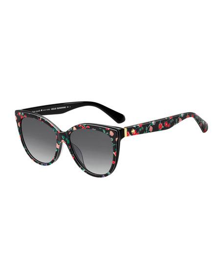 dc69af9b3dfa kate spade new york daeshas round polarized acetate sunglasses, black