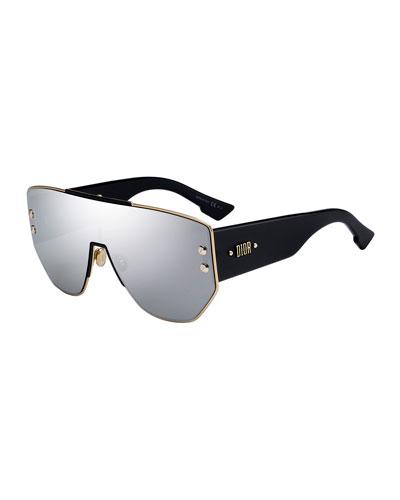 Addict1 Mirrored Shield Sunglasses