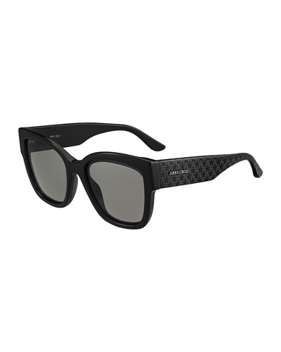 Roxies Square Star-Arms Acetate Sunglasses