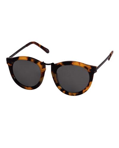 Harvest Round Tortoise Plastic Sunglasses