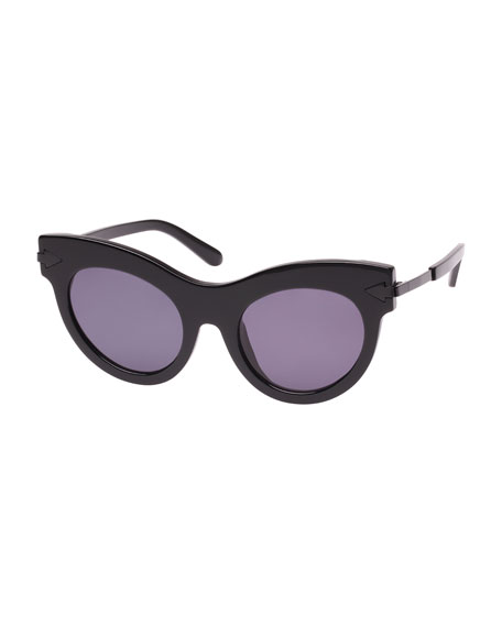 Karen Walker MISS LARK CAT-EYE SUNGLASSES