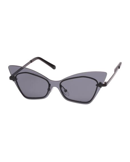 3bdf3db23e79 Karen Walker Mrs. Brill Cat-Eye Semi-Rimless Sunglasses