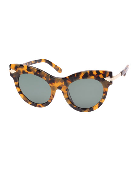 Karen Walker MISS LARK TORTOISE CAT-EYE SUNGLASSES