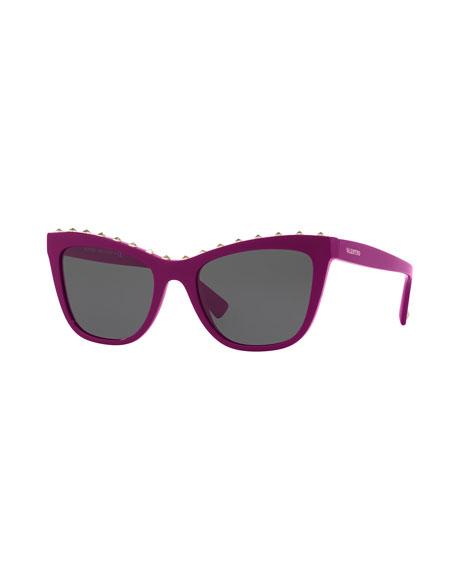 Cat-Eye Rockstud Sunglasses