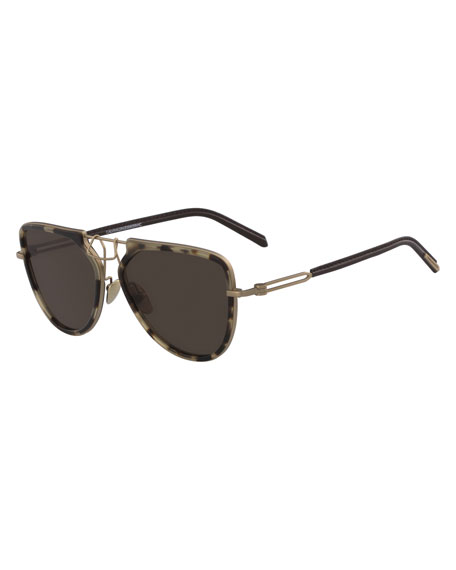13bb81ca8 CALVIN KLEIN 205W39NYC Acetate & Metal Aviator Sunglasses