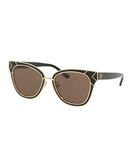 565bebb00500 Tory Burch Square Metal Sunglasses