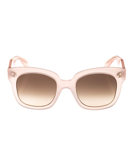 Square Gradient Acetate Sunglasses, Pink Pattern