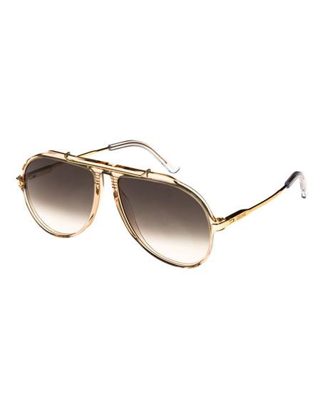 b86470519 Celine Gradient Acetate & Metal Aviator Sunglasses