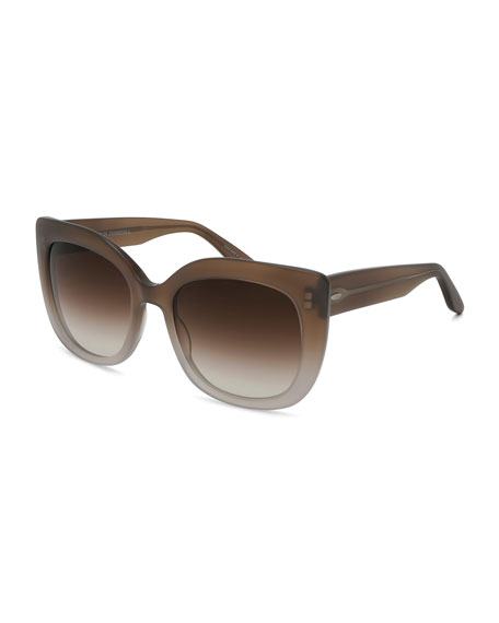 Barton Perreira Olina Gradient Chunky Cat-Eye Sunglasses,