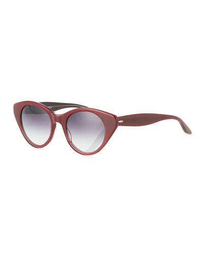 Kismet Cat-Eye Monochromatic Sunglasses