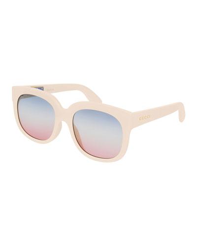Gradient Acetate Rectangle Sunglasses