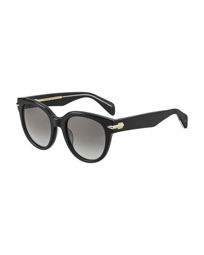 Round Polarized Acetate Sunglasses