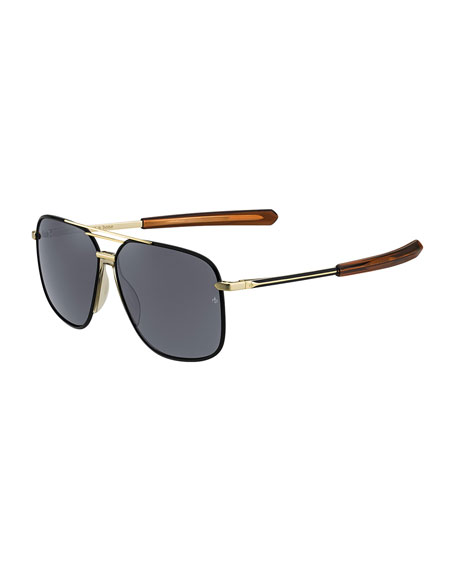 Rag & Bone Metal & Acetate Rounded Aviator-Style