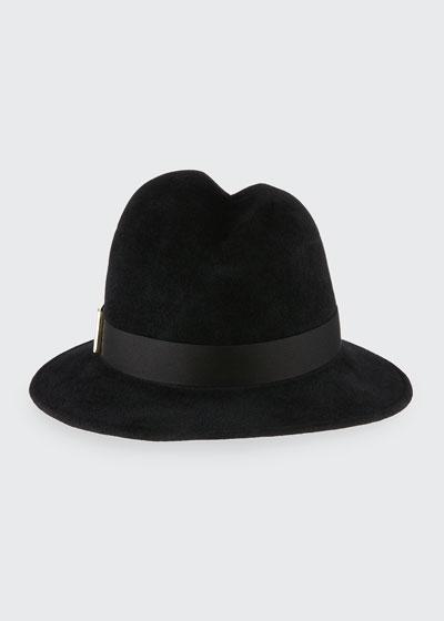 Nell Handmade Wool Fedora Hat, Black