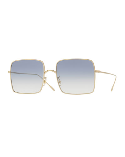 Rassine 56 Square Metal Sunglasses
