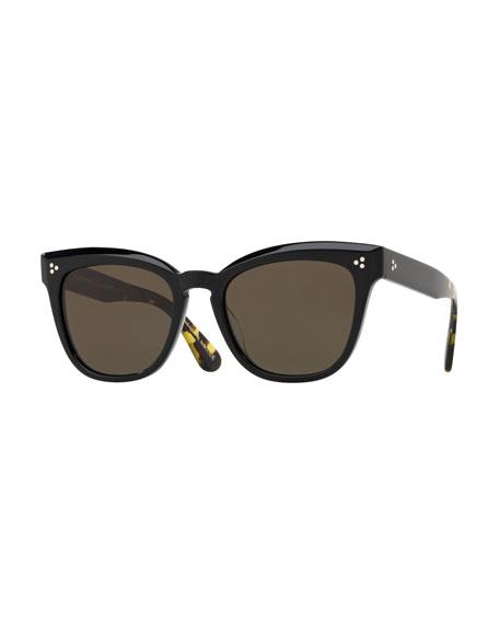 1a63af1412 Oliver Peoples Marianela Rounded Plastic Sunglasses