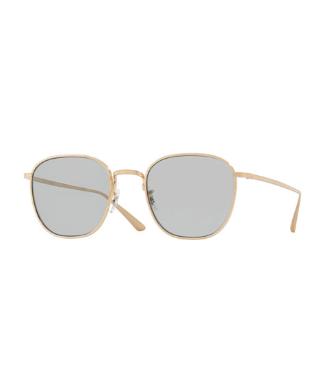d8bf65b5e19 Oliver Peoples The Row Board Meeting Square Photochromic Titanium Sunglasses
