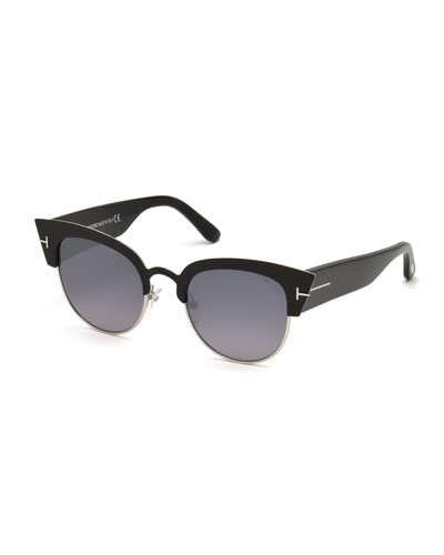 Alexandra Semi-Rimless Cat Eye Sunglasses