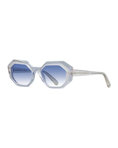 Jacqueline Octagon Acetate Sunglasses