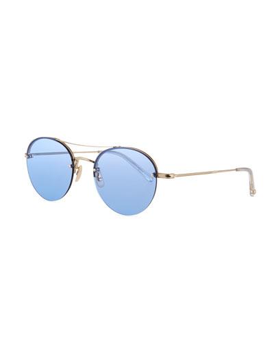 Beaumont Round Steel Sunglasses