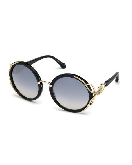 Round Gradient Acetate Sunglasses