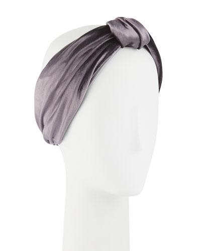 Natalia Knotted Velvet Headband