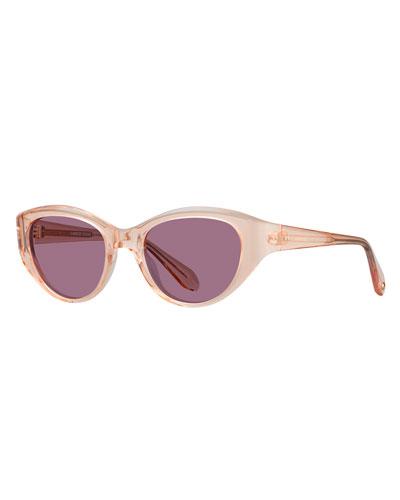 Del Rey Wraparound Cat-Eye Sunglasses