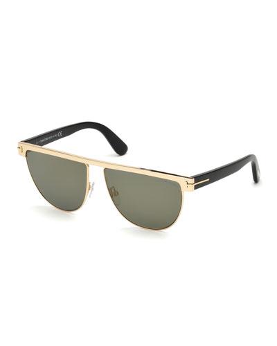 Stephanie Flattop Monochromatic Sunglasses