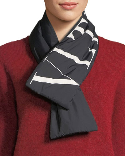 VLTN Wool-Cashmere Scarf