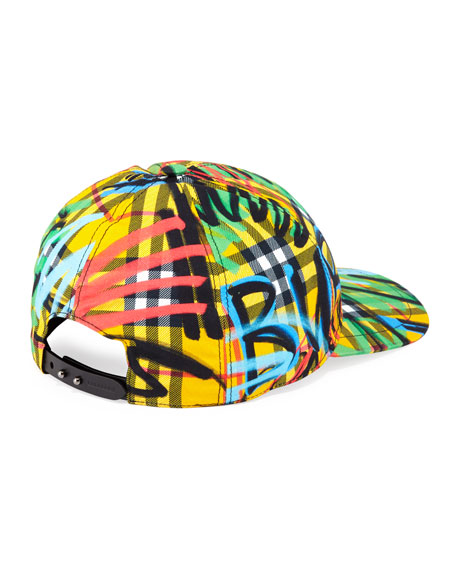 6b5eac93de134 Burberry Fonts Graffiti Logo Cap