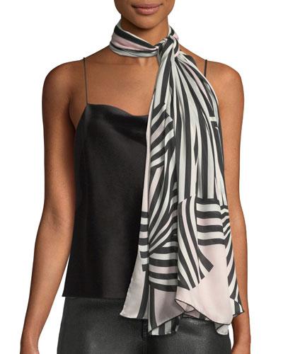 Stripes Silk Stole