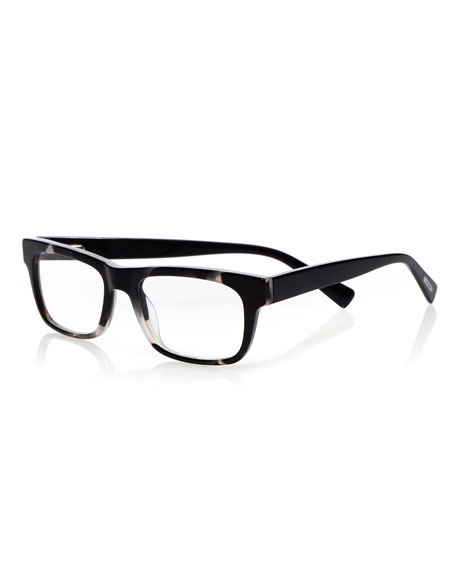 EYEBOBS Style Guy Rectangle Acetate Reading Glasses in Black