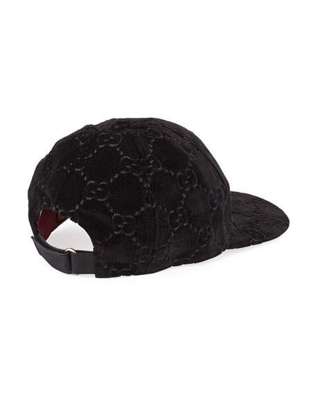 188615706b3 Gucci GG Supreme Velvet Baseball Hat