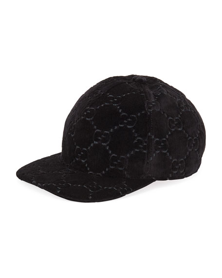 027eb8f2593c4 Gucci GG Supreme Velvet Baseball Hat