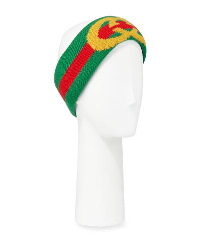 GG Intarsia Wool Headband